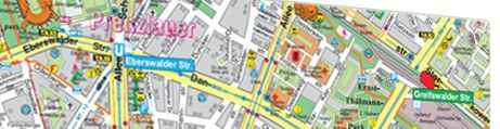 Glassboard Landkaart